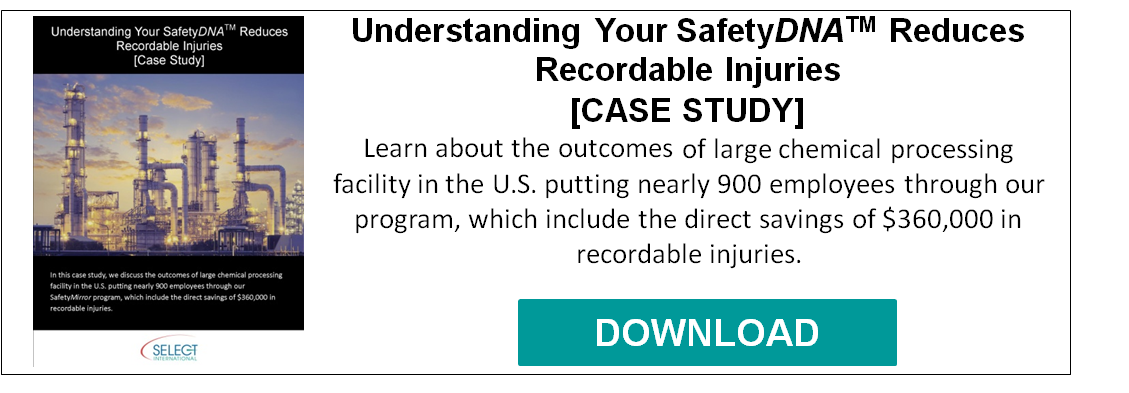 Understanding Your SafetyDNA Reduces Recordable Injuries